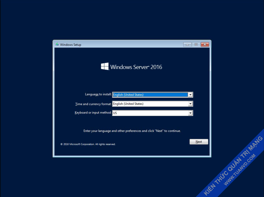 Setup windows server 2016-1