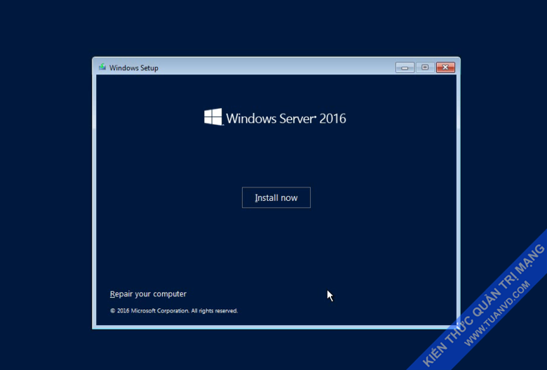 Setup windows server 2016-2