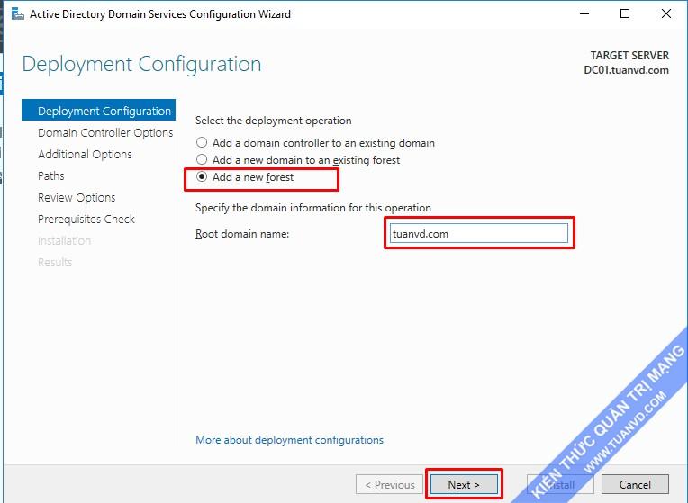Config Active Directory 2016_2