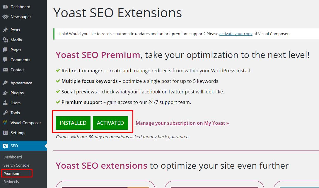 Active(Crack) Yoast seo premium_1