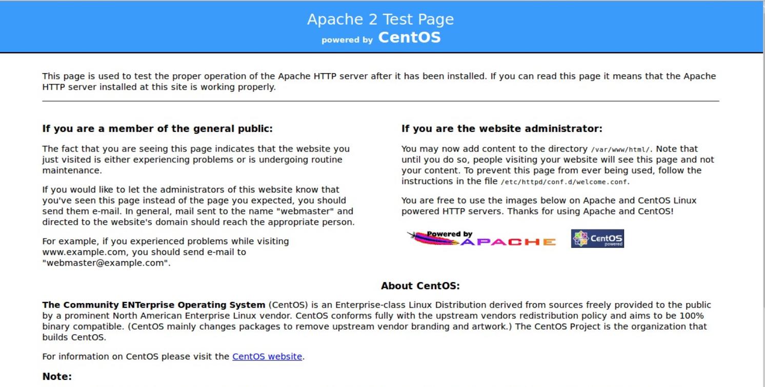 cài đặt Apache - httpd trên centos